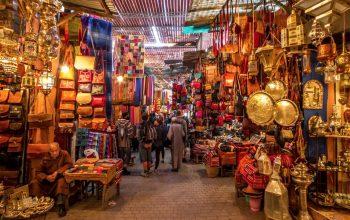 Mercado de Marrakech Marrocos